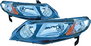 For 2009 2010 2011 Honda Civic Sedan/Hybrid Headlights Headlamps Pair Set Replacement HO2502127 HO2503127
