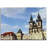 BOVIENCHE Puzzel Für Erwachsene 1000 Mini Teile Prag, Tschechische Republik Wohnkultur Gemälde Plakate -(38 x 26cm)