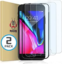 MANTO 2-Pack Screen Protector for iPhone 8 7 6s 6 4.7-Inch Tempered Clear Glass 9H Hardness 2.5D Shatter-Proof, Bubble-Free, 3D-Touch, Case-Friendly