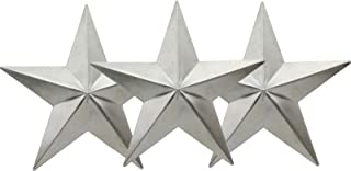 """Yokoke Primitives Metal Barn Stars Rustic Country Farmhouse Craft Stars with Hollow Backs for Decorating and Finishing (7"""")"""