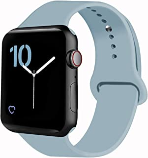 VATI Sport Band Compatible for Apple Watch Band 38mm 40mm 42mm 44mm, Soft Silicone Sport Strap Replacement Bands Compatible with iWatch Apple Watch Series 5/4/ 3/2/ 1 All Models