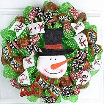 Best mesh snowman wreath Reviews