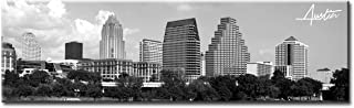 Austin Skyline Wall Art - Black and White Canvas Prints City Pictures Poster Artwork Home Decor Panorama Cityscape Painting for Bedroom Office Living Room Decoration - Ready to Hang 13.8