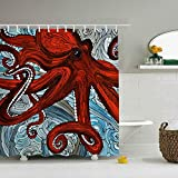 N\A Duschvorhang Polyester Print Abstract Octopus Paintings Badezimmer Gardinen