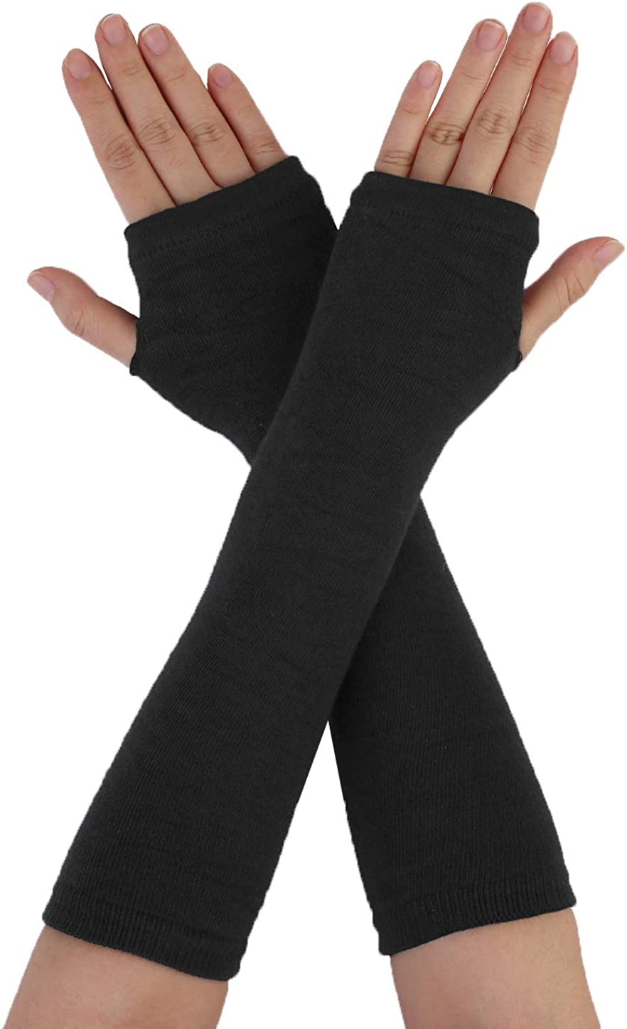 uxcell Woman Genuine Elastic Fingerless Elbow Hand Length Arm Warmers List price Gl