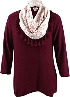 Style & Co. Womens Plus Knit Relaxed Crewneck Sweater