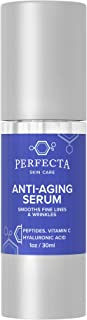 Perfecta Skin Care Anti - Aging Serum - All Natural Facial Solution with Hyaluronic Acid, Peptides, Vitamin C, Aloe Vera, ...