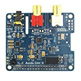 WINGONEER DAC IIハイファイサウンドカード| ES9018K2M | 384 kHz / 32ビット| 高解像度| | DSDフォーマットをサポート| ラズベリーパイ3モデルB / 3B / 2B用