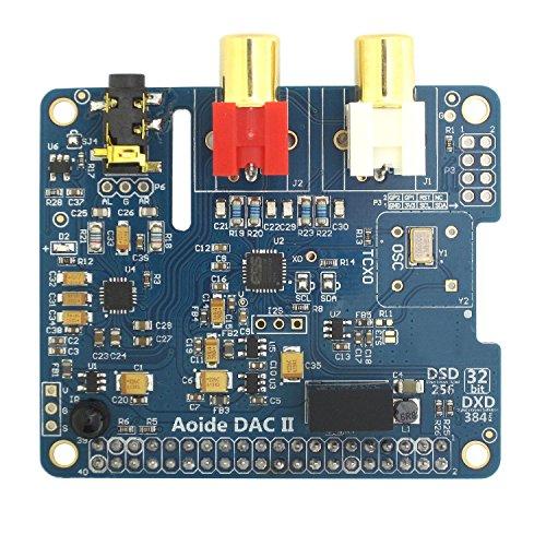 DollaTek Scheda Audio DAC II HiFi  ES9018K2M  384 kHz / 32 Bit  Alta risoluzione  Formato DSD supportato  per Raspberry Pi 3 Modello B / 3B / 2B