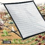 Wetour Toldo Vela Sombra Rectangular protección Aislante de Papel de Aluminio Reflectante para enfriamiento Pantalla de protección Solar para Redes Sombra de jardinería