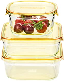 LINGLING Alimentaire Rangement et organisation verre Boîtes à Bento Sets repas Préparation des contenants hermétiques avec...
