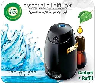Air Wick Air Freshener Essential Oil Diffuser Kit, Fresh Water Breeze