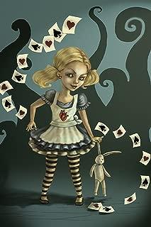Miss Wonderland by Diana Levin Evil Alice w/Playing Cards Framed Fine Art Print