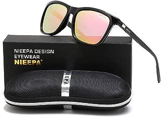 NIEEPA Rectangular Polarized Sunglasses AL-MG Temple Retro Driving Sun Glasses