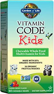 Garden of Life Vegetarian Multivitamin Supplement For Kids, Vitamin Code Kids Chewable Raw Whole Food Vitamin With Probiot...