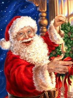5D DIY Diamond Schilderij Kerstman Vierkante Ronde Diamant Borduurwerk Kerst Cartoon Mozaïek Kunst Diamant Schilderij A11 ...