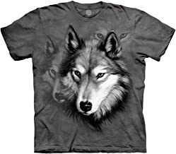 The Mountain Men's Wolf Portrait Adult Tee