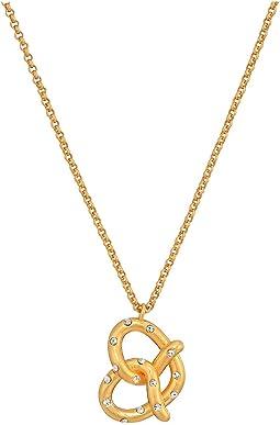 Dashing Beauty Pretzel Mini Pendant Necklace