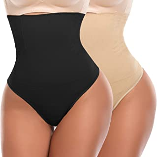 1d448f5bbf SLIMBELLE Culotte Gainante String Femme Ventre Plat Taille Haute Tanga  Sculptante Invisible Panty Minceur Slip Shapewear