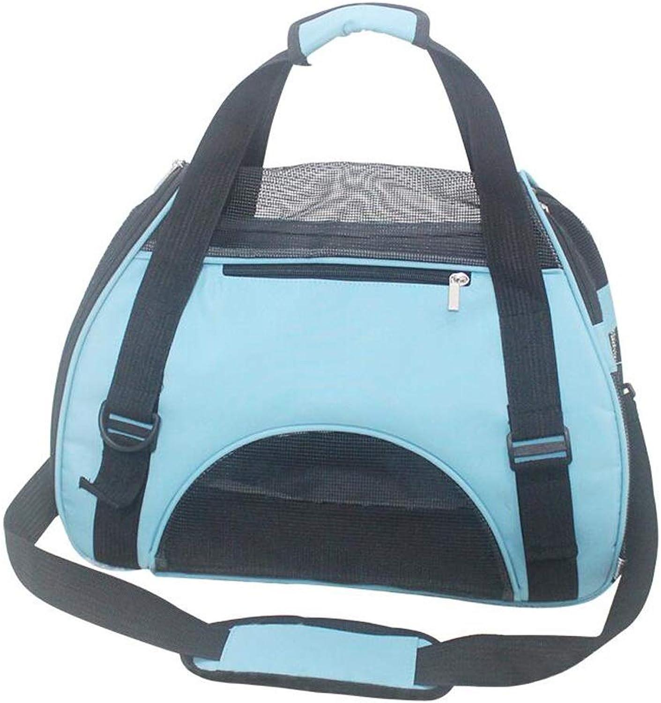 FJH Pet Bag Cat Bag Cat Backpack Dog Cat Out Portable Packing Cat Out Bag Cat Bag Dog Bag Cat Bag (color   bluee)