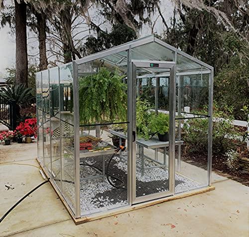 'Palmetto' - 8' x 10' Aluminum & Glass Greenhouse Kit