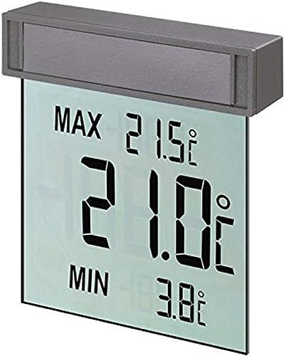 TFA 30.1025 Vision Thermomètre numérique de fenêtre avec affichage à gros caractères facilitant la lecture de la temp...