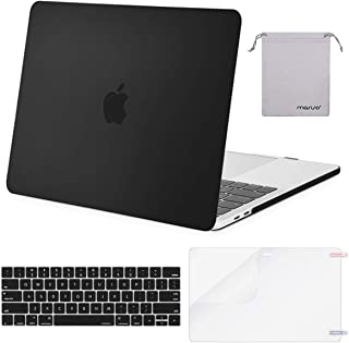 MOSISO MacBook Pro 15 inch Case 2019 2018 2017 2016 Release A1990 A1707, Plastic Hard Shell &Keyboard Cover &Screen Protector &Storage Bag Compatible Newly MacBook Pro 15 Touch Bar, Black