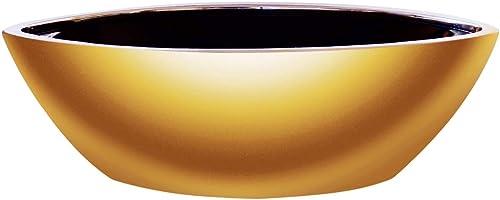 new arrival Ceramic Flower Vase Decorative Centerpiece for high quality Home or Wedding, sale Low Succulent Planter Pot, Boat Shape, Gold outlet online sale