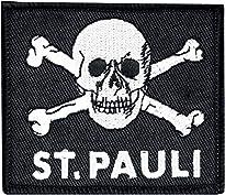 FC St. Pauli Totenkopf Patch schwarz 100% Polyester