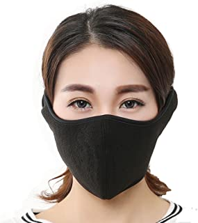 KAPOSEV Mouth Mask Warmer Cotton Fleece Mask Anti Dust Face Muffle Mask for Men Women Boy Kids,Full Ears Protection for Ski Bicycle Motorcycle