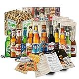 """""""bières du monde"""" (12 bouteilles) idée cadeau homme incl. dessous de verre + coffret cadeau + info"""