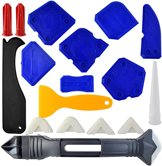 18 Pieces Caulking Tool Kit
