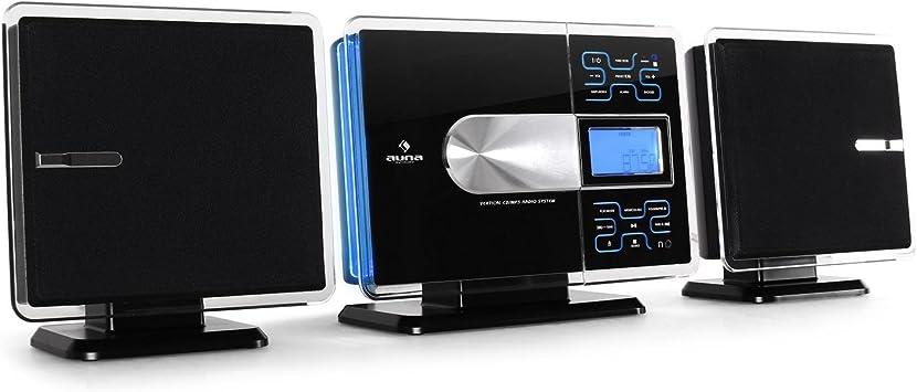 auna VCP-191 - Equipo estéreo, Minicadena, Reproductor de CD, MP3, USB, Pantalla LCD, FM, Memoria, Salida de Audio, Salida coaxial, Euroconector, ...