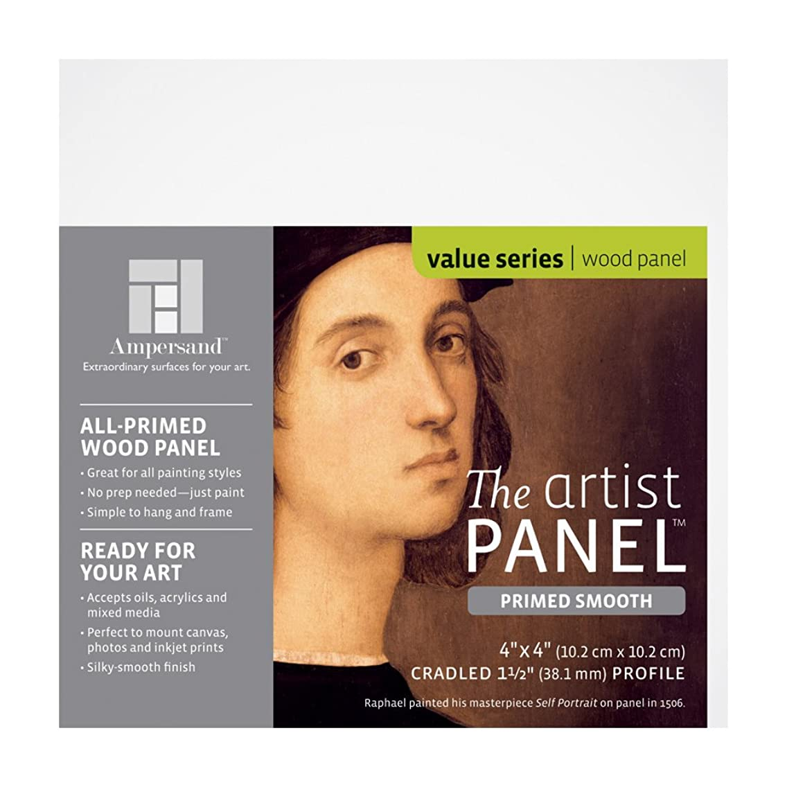 Value Wood Art Painting Panel Primed Smooth by Ampersand 1-1/2
