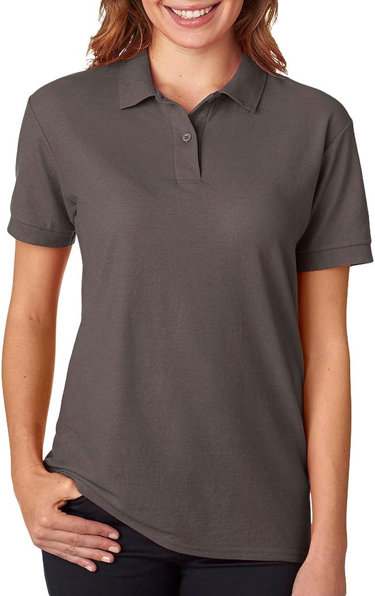 Gildan Womens DryBlend 6.3 oz. Double Piqué Sport Shirt (G728L) -CHARCOAL -M