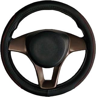 Auto Lenkradschutz Universal Zubehör Durchmesser 38cm Echtleder schwarz für Ypsilon Voyag Flavia Delta Thema musa