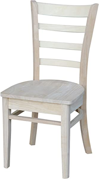 International Concepts Emily Side Chair Unfinished