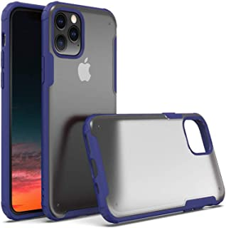 BOHOTA iPhone 11 Pro Max Case,Rugged Armor Matte Cell Phone Case Clear Protective Shockproof Cool Bumper 11 Pro Max Case Soft TPU Hard Frosted PC Hybrid 6.5 Case for iPhone 11 Pro Max 2019 (Blue)