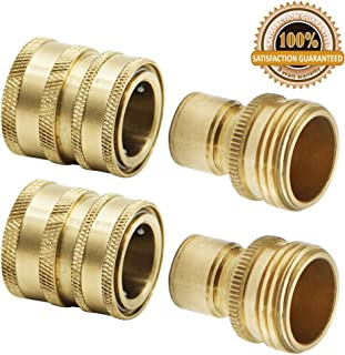 Twinkle Star Garden Hose Brass Quick Connector Set, 2 Pack, TWIS551