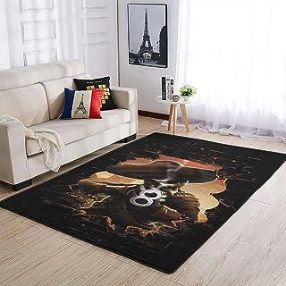 OwlOwlfan Tapis de sol confortable antidérapant motif cowboy et squelette - Pour intérieur ou extérieur - Pour la maison, ...