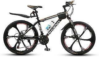 FJW Unisexo Bicicleta de montaña Hardtail 21/24/27 Velocidad Bicicleta MTB 26 Pulgadas