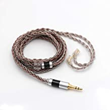 Linsoul TRIPOWIN C8 8-Core Silver Copper Foil Braided Earphone Replacement Upgrade Cable, Tinsel Silver Copper Wire for KZ ZSX, ZSN Pro, ZS10 Pro NF2u, QDC IEMs (3.5mm Plug, QDC Connector)