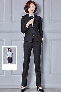 【ノーブランド品】パンツスーツ スカートスーツ レディーススーツ フォーマルスーツ ビジネススーツ 通勤やリクルート 就活 事務服 オフィス 制服に 大きいサイズ OL 卒業式スーツ ブラック パンツスーツ XL
