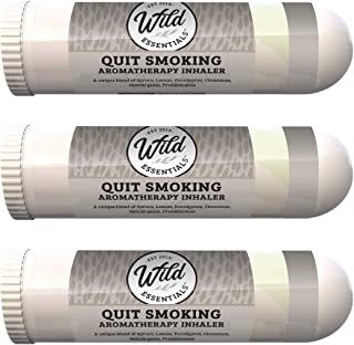 mEssentials 3 Pack of Quit Smoking Aromatherapy Nasal Inhalers Made with 100% natural, therapeutic grade essential oils to...