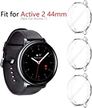 Seltureone (3 Pack) Compatible Samsung Galaxy Watch Active 2 44mm Screen Protector, Ultra Slim Soft Full Cover Case (Not Fit for Samsung Galaxy Watch Active 1st Gen) (Clear)