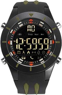 Men's Sports Analog Quartz Watch,Dual Display Waterproof Digital Watches with LED Backlight- Black green
