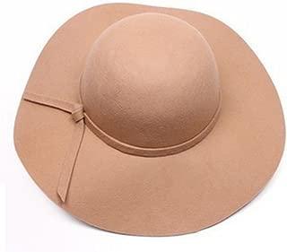 Vintage Baby Girls Floppy Wide Brim Wool Felt Fedora Cloche Hat Cap