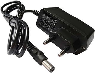Easyday Fuente de alimentación de conmutación Universal de 5,5mm x 2,1mm Enchufe de la UE 5V 2A Adaptador de Fuente de Alimentación (Negro)