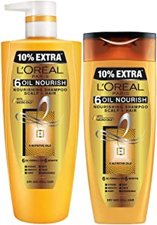L'Oreal Paris 6 Oil Nourish Shampoo, 1L (640ml+360ml) - Combo pack of 2