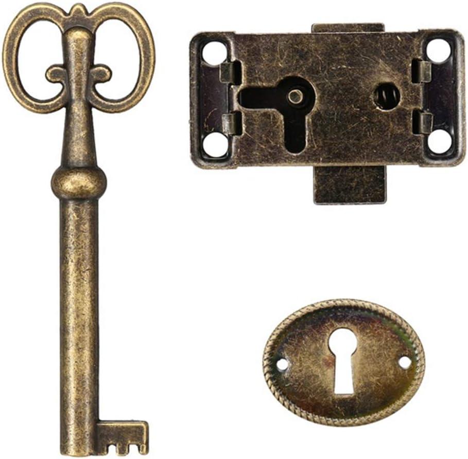 Antique Drawer Now free shipping Wood Box Cabinet Door Key Lock Makeup Jewelry Set Nashville-Davidson Mall